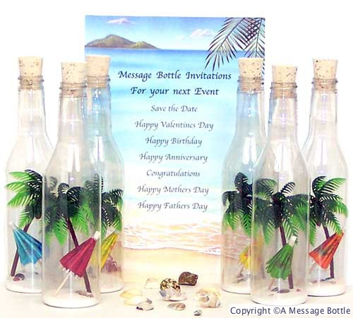 Message in a Bottle Invitations Wedding Anniversary Party – Message in a Bottle Party Invitations