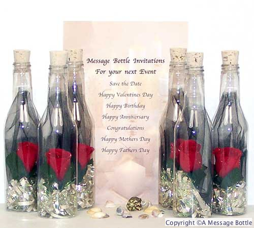 Message in a Bottle Invitations Wedding Anniversary Party – Message in a Bottle Birthday Invitations