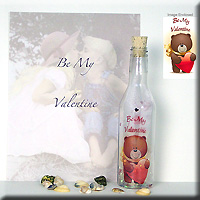 Be My Valentine Message Bottle