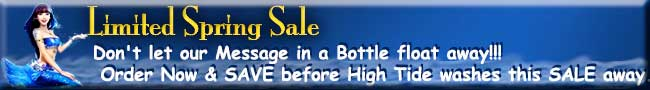 Sale - Buy your Message in a Bottle today and SAVE...