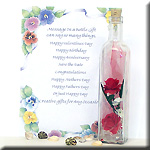 Message in a Bottle for Mothers Day, send Mom your personalized greeting with a Message in a Bottle that she will Cherish FOREVER