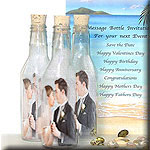 Anniversary Invitations, invite your guests with a Message Bottle Invitation.