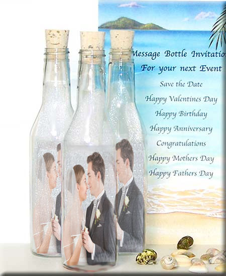 message in a bottle | romantic gift ideas | wedding invitations, Wedding invitations