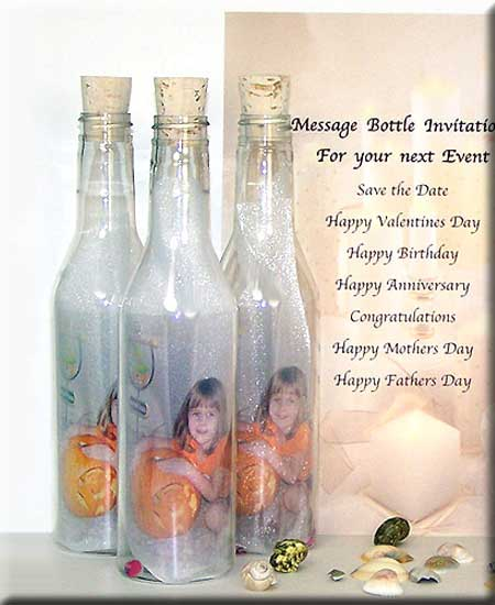 Message in a Bottle Romantic Gift Ideas – Message in a Bottle Birthday Invitations