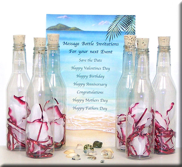 Invitations In A Bottle The Best Invitation In 2017 – Message in a Bottle Party Invitations