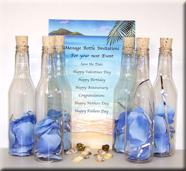 Clients from AOL to the Marriott have relied on us to deliver unforgettable custom messages. You, too, can send a Message in a Bottle as a special gift, invitation, or romantic gesture.