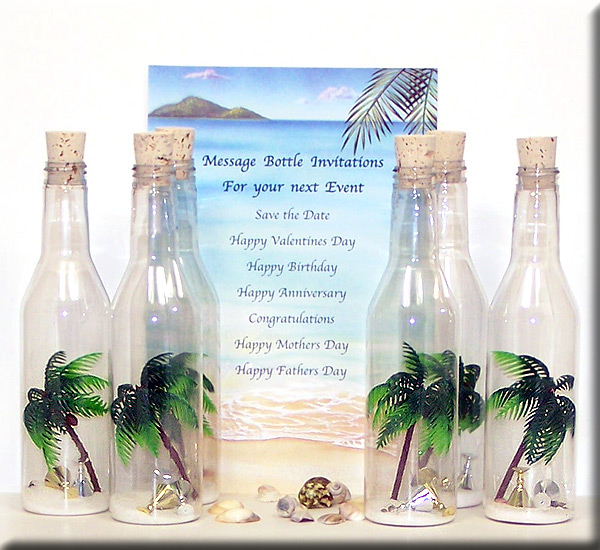 Message in a Bottle Romantic Gift Ideas – Message in a Bottle Party Invitations