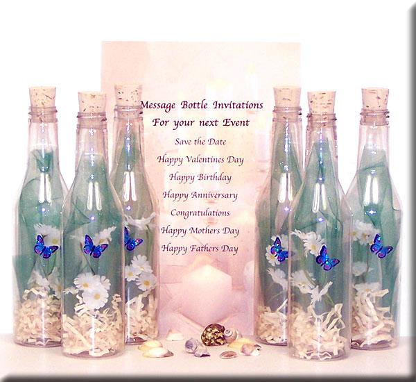 message in a bottle ideas Khafre – Message in a Bottle Party Invitations