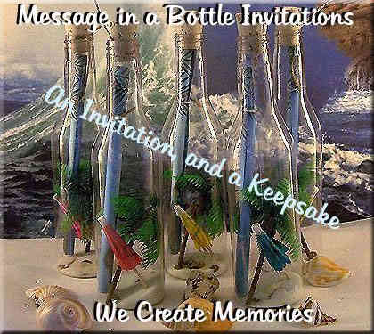 Message in a Bottle Wedding and Anniversary Invitations for all occasions